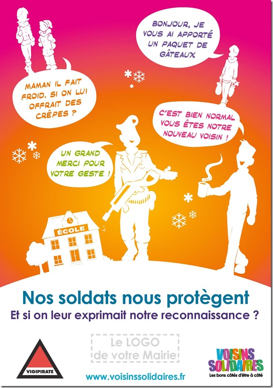 Affiche opération sentinelle - logo mairie